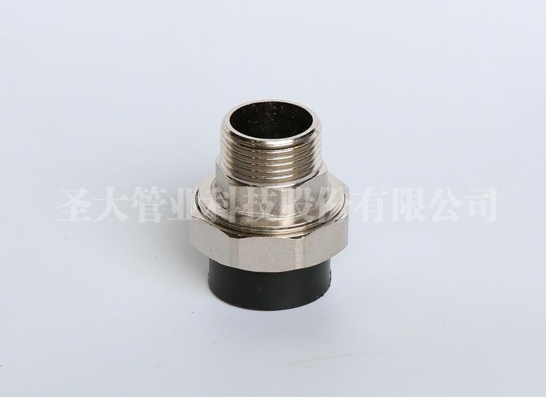 HDPE外丝铜活接(承插)